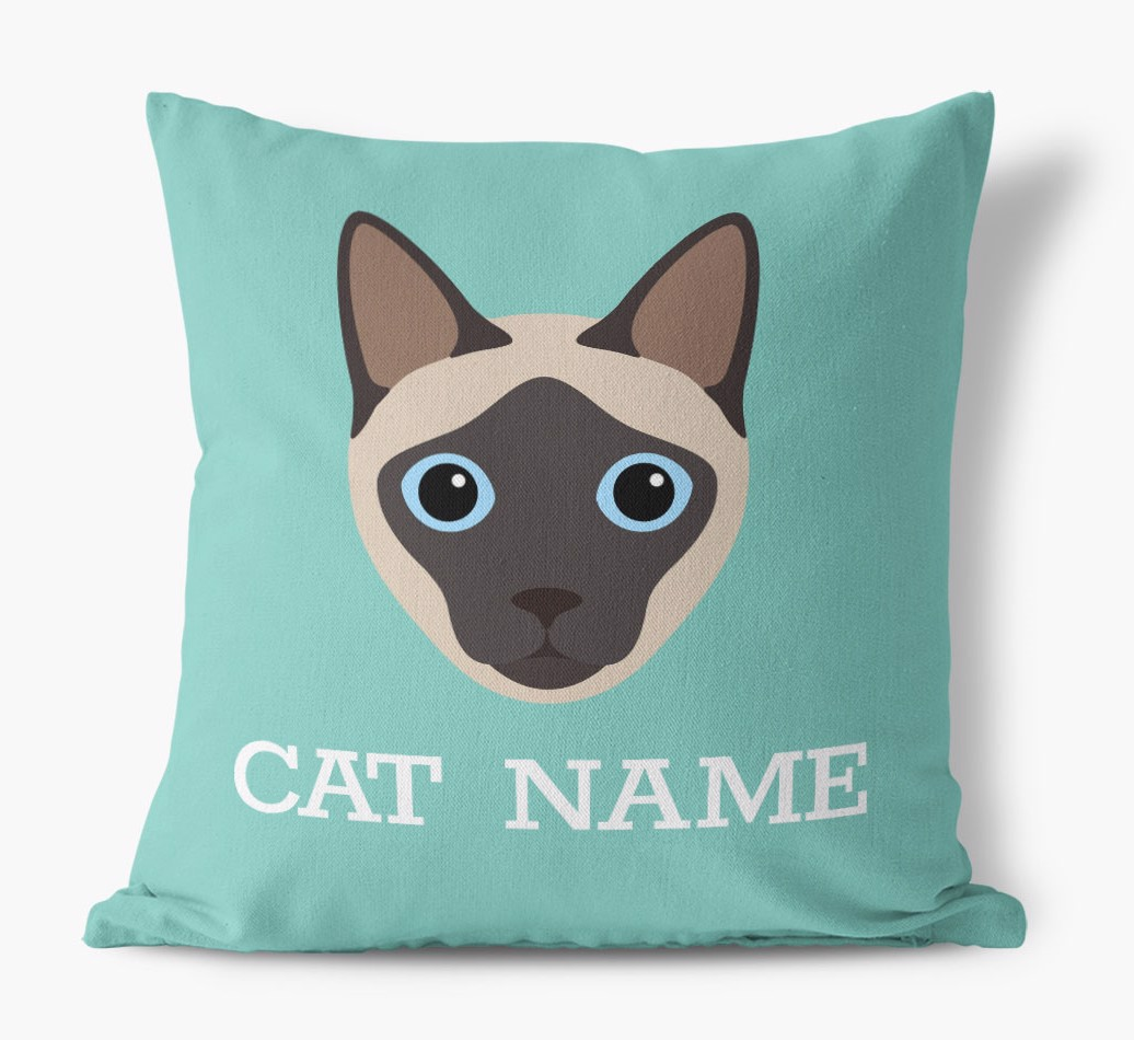 {colour} Siamese Icon Canvas Pillow front view