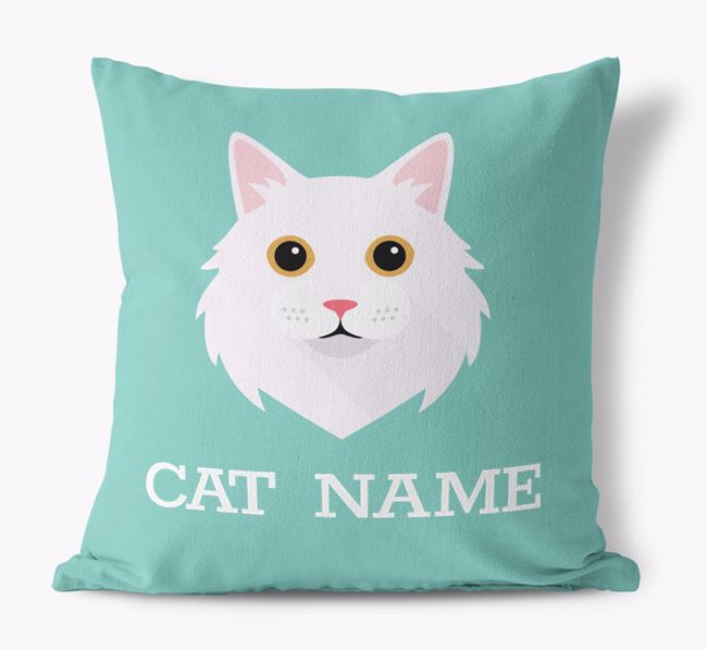 'Cat Icon' - Personalized Canvas Pillow