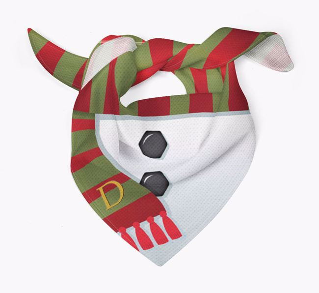 'Snowman Scarf' - Personalised Airedale Terrier Bandana