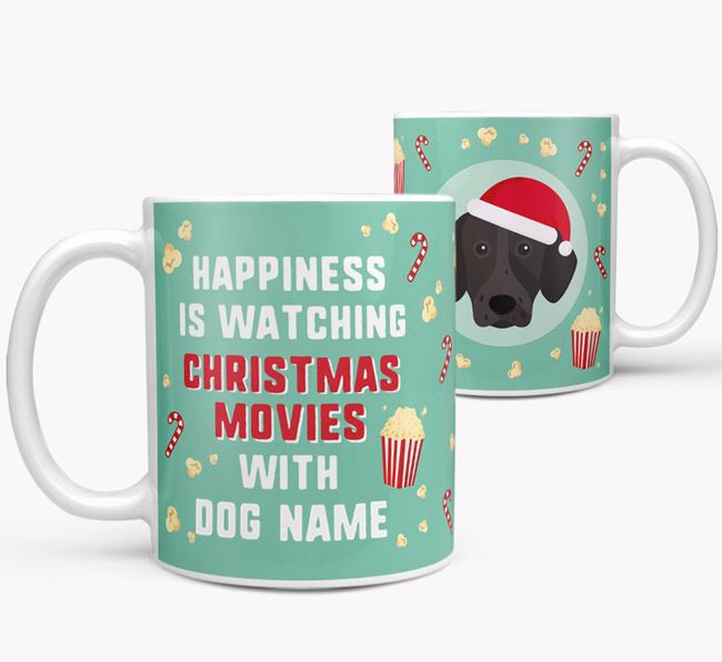 'Christmas Movies with Your Dog' - Personalised German Shorthaired Pointer Mug