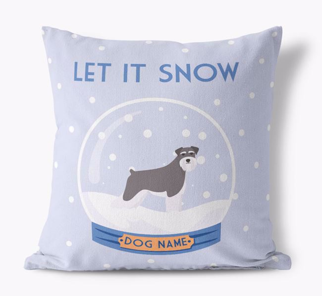 'Let it Snow!' - Personalized Dog Canvas Cushion