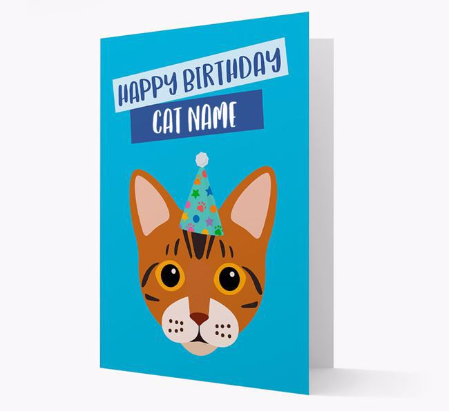 'Happy Birthday Your Cat' - Personalized Bengal Card