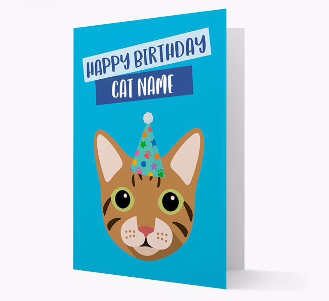 'Happy Birthday to Your Cat' - Personalised Cat Card