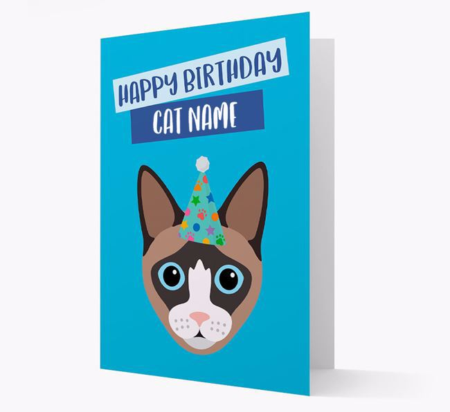 'Happy Birthday Your Cat' - Personalized Cat Card