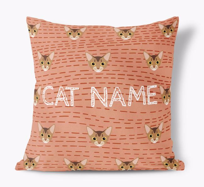 'Cat Icon Pattern' - Personalized Soft Touch Pillow