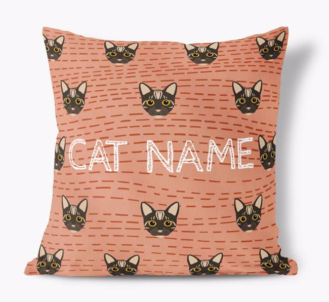 'Bengal Icon Pattern' - Personalized Soft Touch Pillow