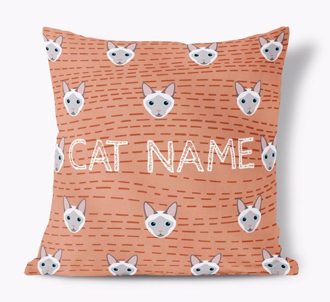 'Siamese Icon Pattern' - Personalized Soft Touch Pillow