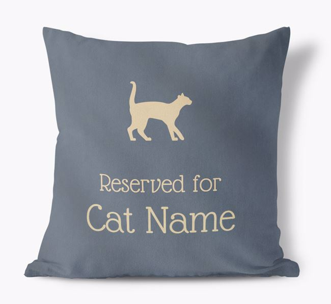 'Reserved for Cats' - Personalized Soft Touch Pillow