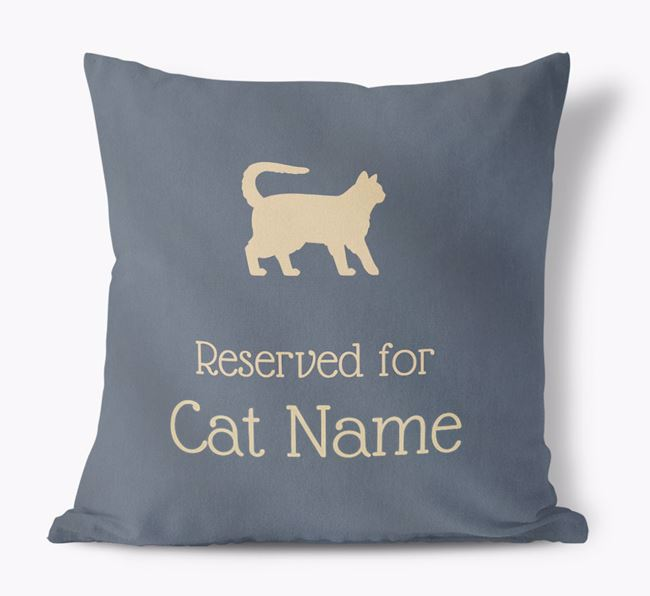 'Reserved for Balineses' - Personalized Soft Touch Pillow
