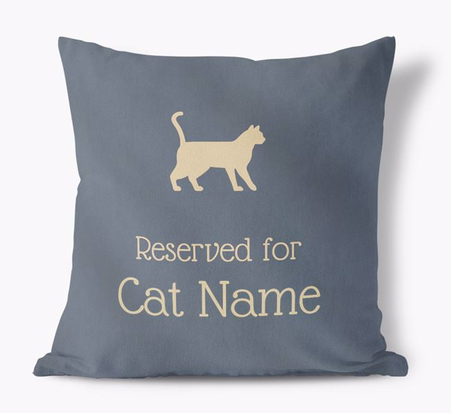 'Reserved for Siameses' - Personalized Soft Touch Pillow