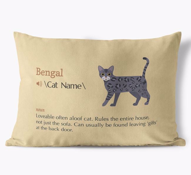 'Bengal Definition' - Personalised Soft Touch Cushion