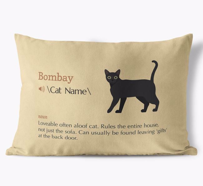 'Cat Definition' - Personalized Soft Touch Pillow