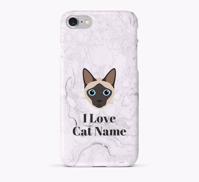 'I Love Your Cat' - Personalised Siamese Phone Case