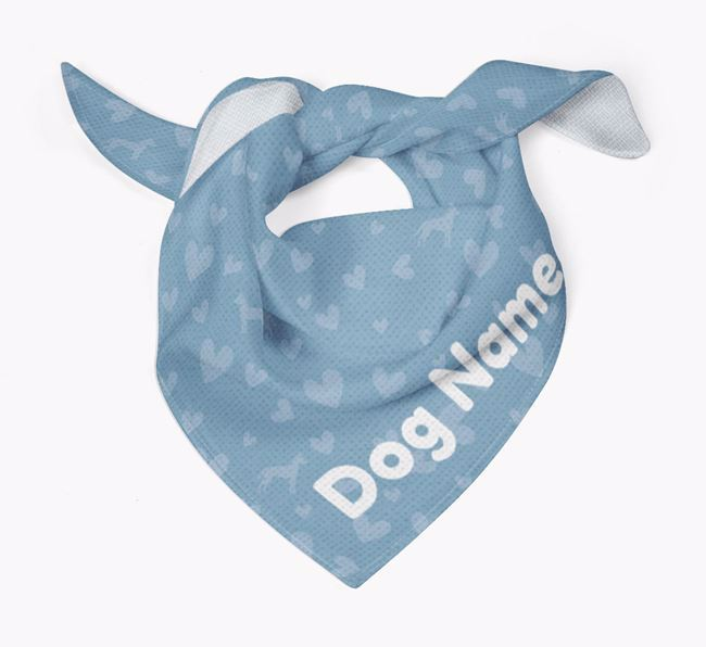 Dog Bandana with Silhouettes & Hearts for Your Dog