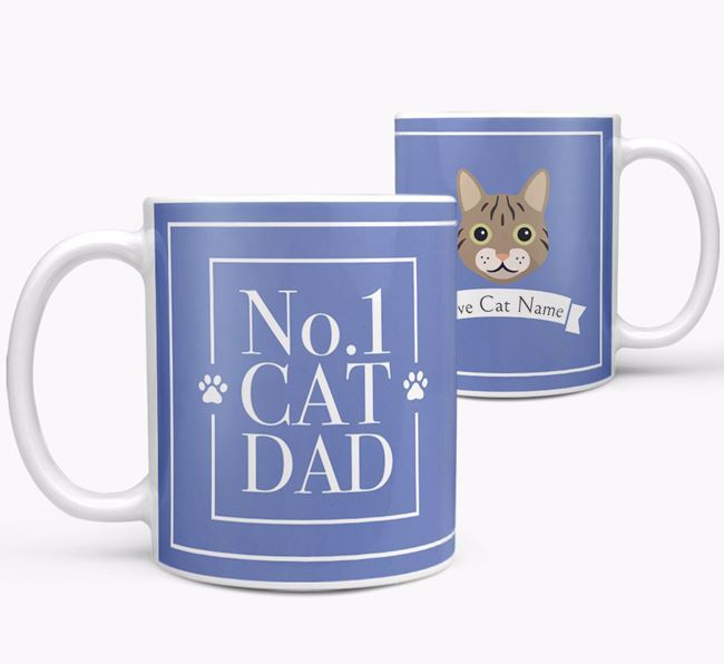 'No.1 Dad' - Personalized Cat Mug