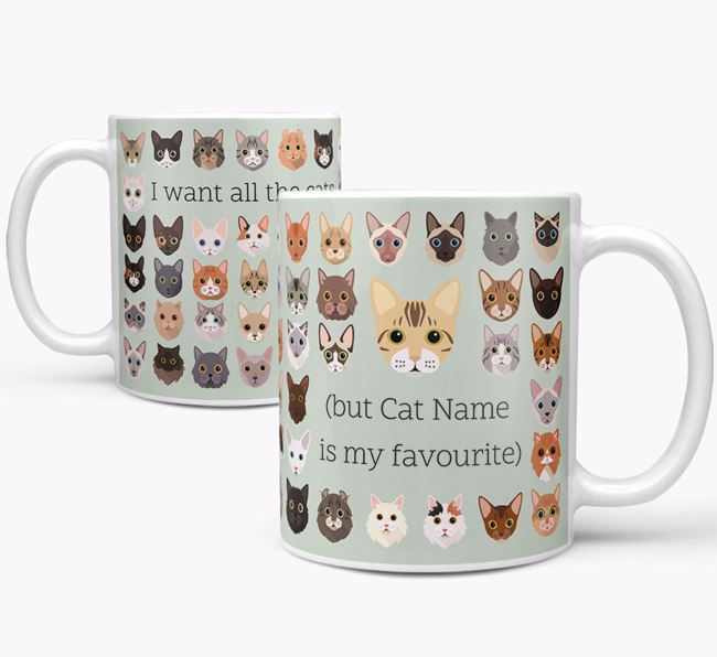 'I Want All the Cats' - Personalised Bengal Mug