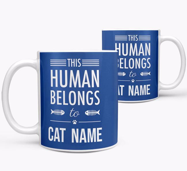 'This Person Belongs to... ' - Personalized Cat Mug