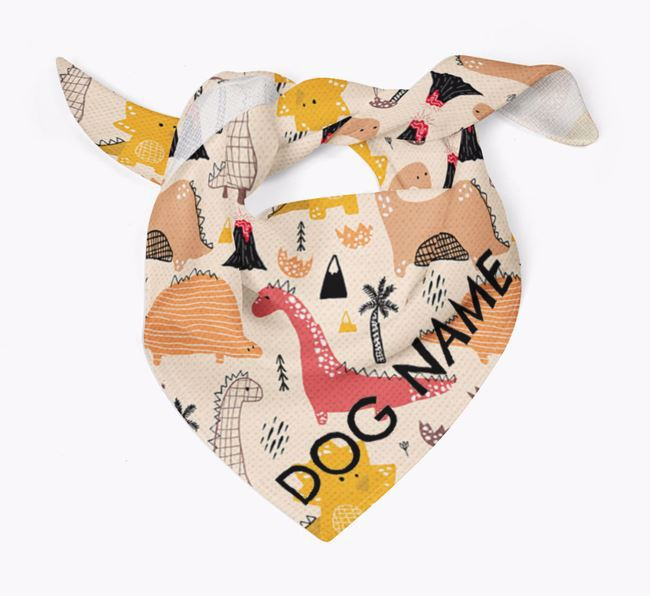 Dog Bandana with Dinosaur Pattern for Your Dog