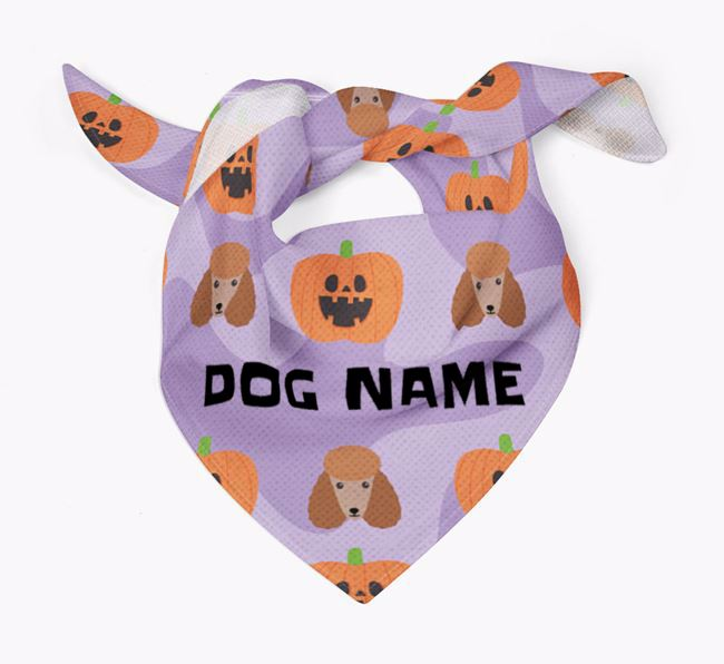 Pumpkin Pattern - Personalised Poodle Bandana