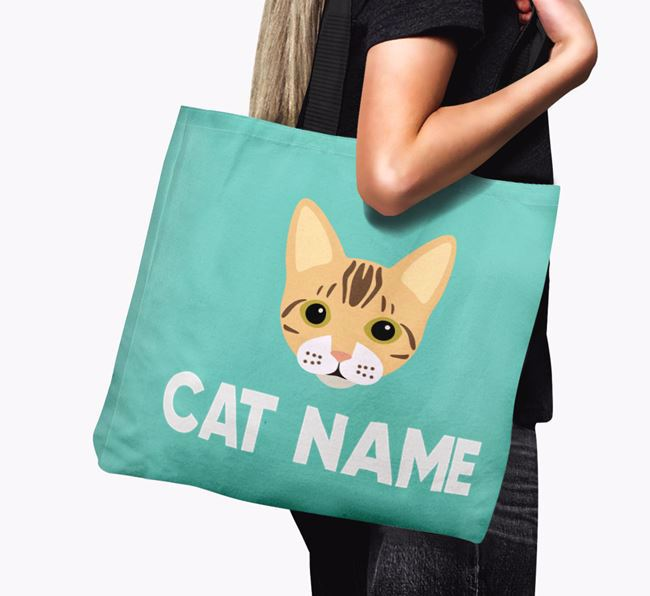 'Bengal Icon & Name' - Personalized Canvas Bag