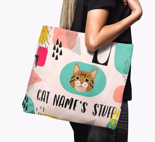 Abstract Your Cat's Stuff - Personalised Cat Canvas Bag