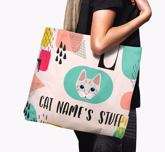 Abstract Your Cat's Stuff - Personalized Ashera Canvas Bag