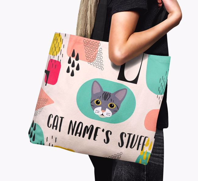 Abstract Your Cat's Stuff - Personalized Bengal Canvas Bag