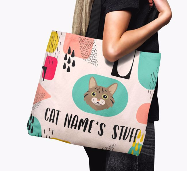 Abstract Your Cat's Stuff - Personalized Cat Canvas Bag