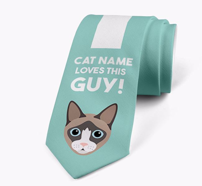'Your Cat Loves This Guy!' - Personalised Cat Neck Tie