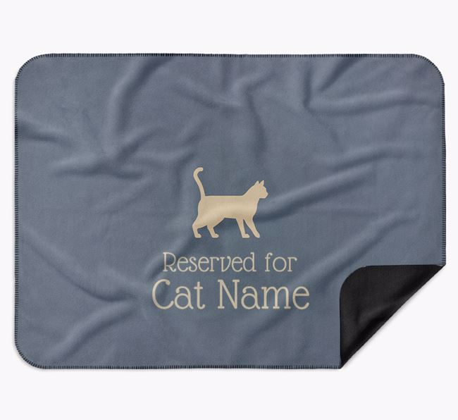 'Reserved for Your Cat' - Personalised Luxury Bengal Blanket