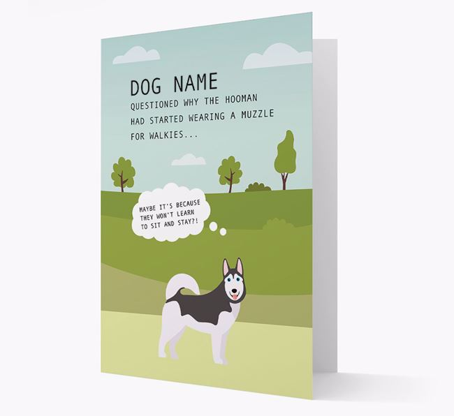 'Sit and Stay' - Personalized Card with Dog Icon