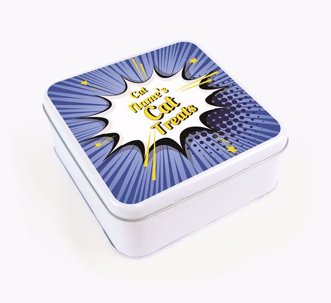 'Comic Bang' - Personalised Treat Tin for Your Siamese