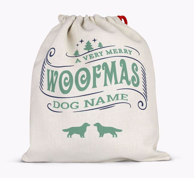 Personalized 'Merry Woofmas' Santa Sack for Your Dog