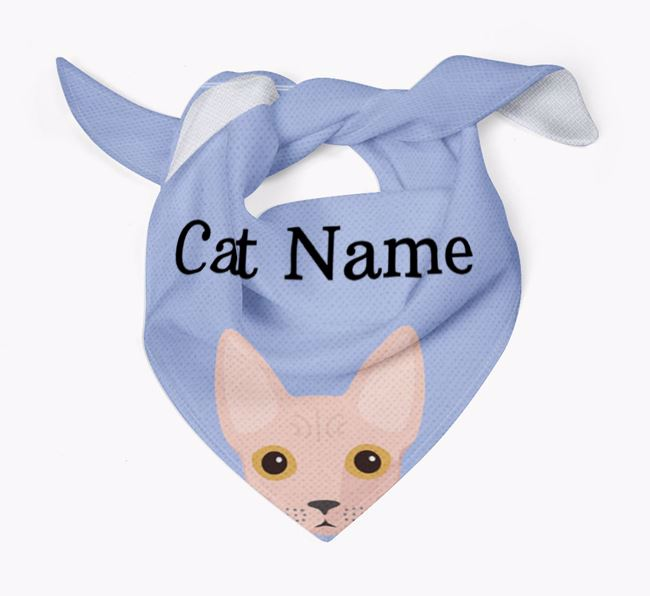 'Peeking' Icon - Personalized Cat Bandana