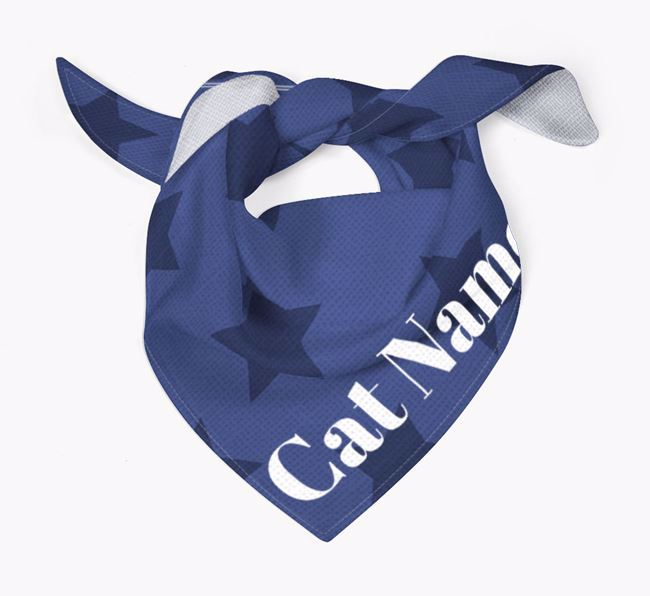 'Star Pattern' - Personalized Cat Bandana