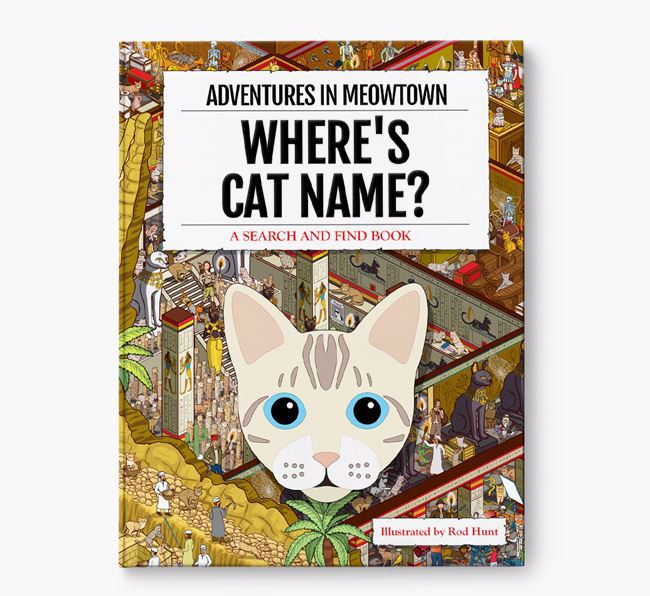 Personalised Where's Your Cat Book: Adventures In Meowtown