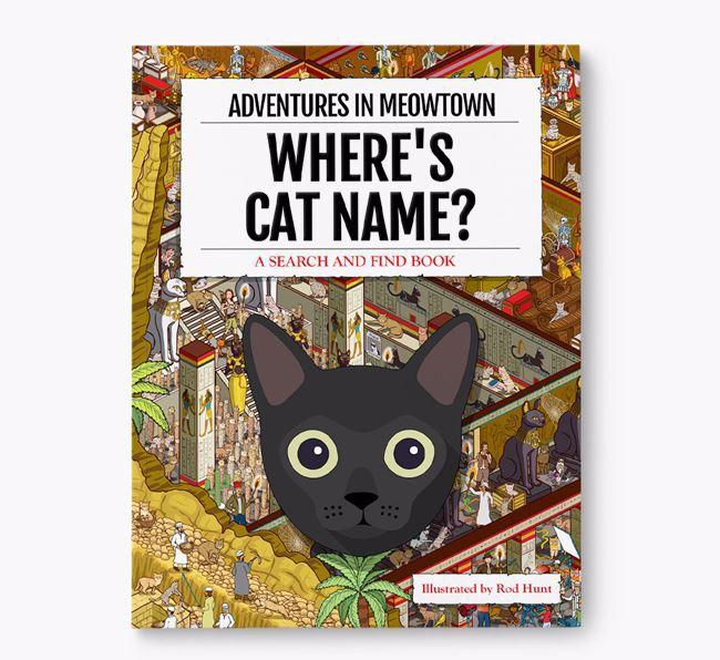 Personalized Where's Your Cat Book: Adventures In Meowtown