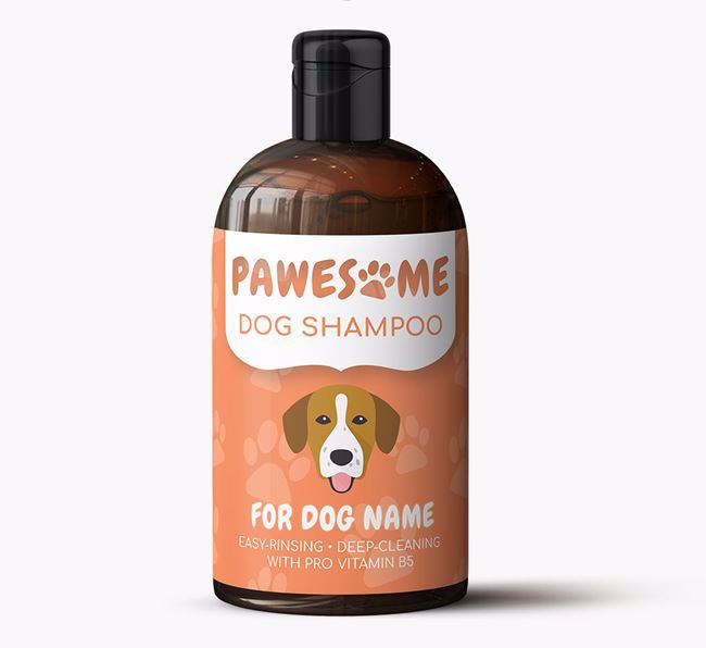 Personalised Dog Shampoo 'Pawesome' for Your Dog