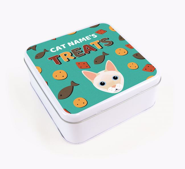 'Treats' - Personalised Treat Tin for Your Siamese