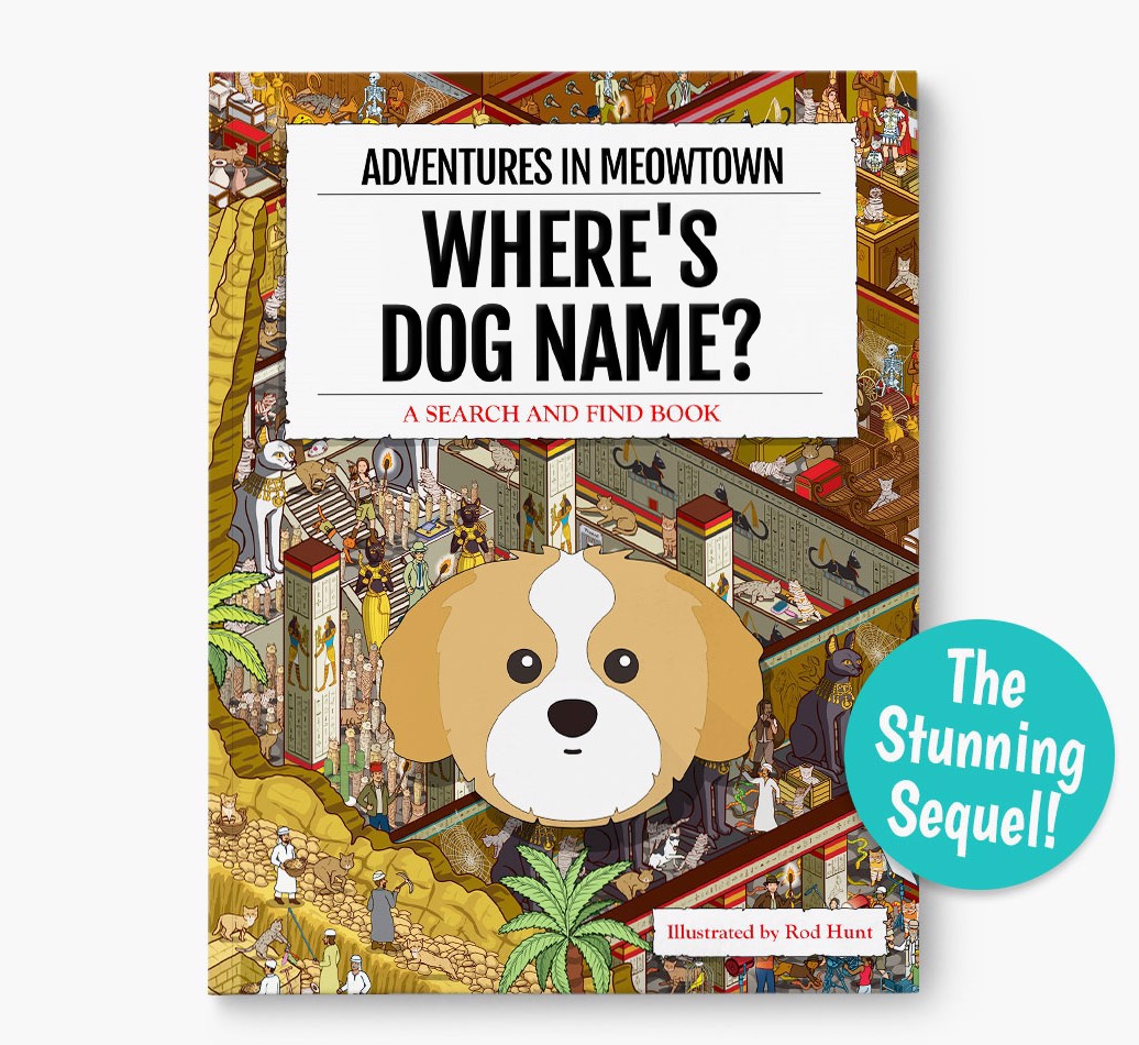 personalized Where's Cat Name In Meowtown Book - the stunning sequel