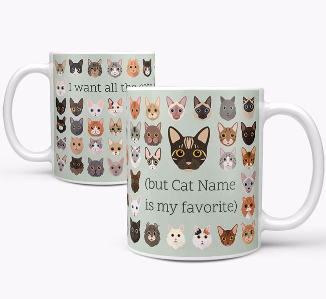 'I Want All the Cats' - Personalized Bengal Mug