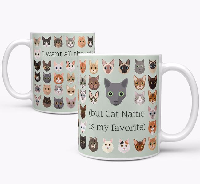 'I Want All the Cats' - Personalized Cat Mug