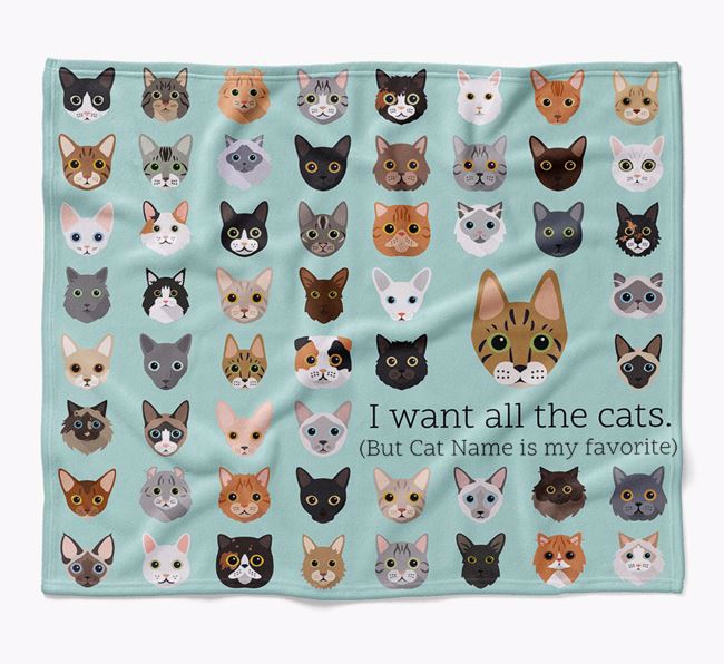 'I Want All the Dogs' - Personalised Luxury Ashera Blanket