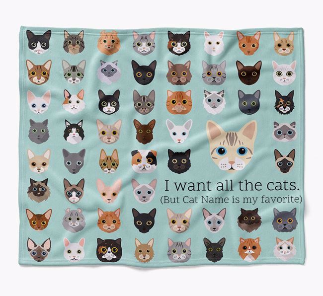 'I Want All the Dogs' - Personalised Luxury Bengal Blanket