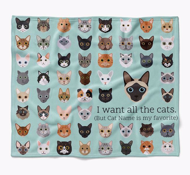 'I Want All the Dogs' - Personalised Luxury Siamese Blanket