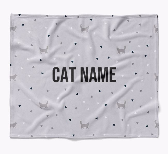'Triangle Pattern' - Personalised Luxury Cat Blanket