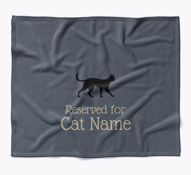 'Reserved for Your Cat' - Personalised Luxury Ashera Blanket