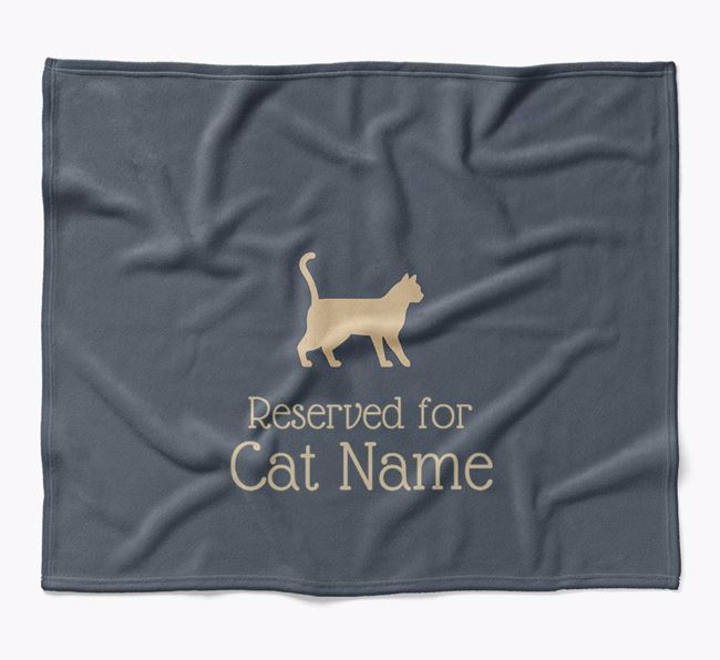 'Reserved for Your Cat' - Personalised Luxury Cat Blanket