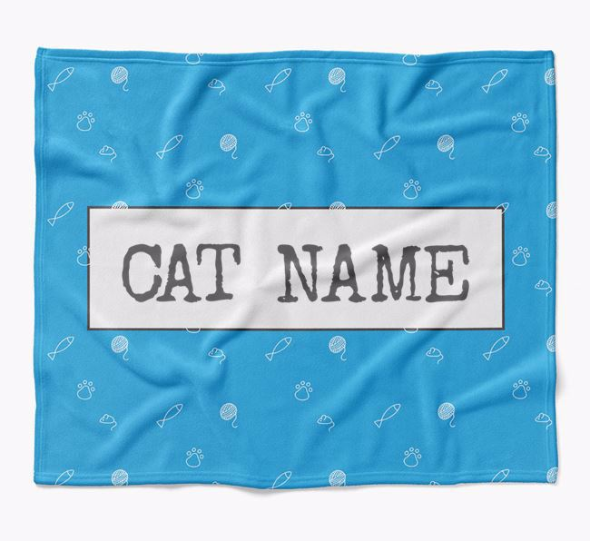 'Cat Print' - Personalised Luxury Cat Blanket