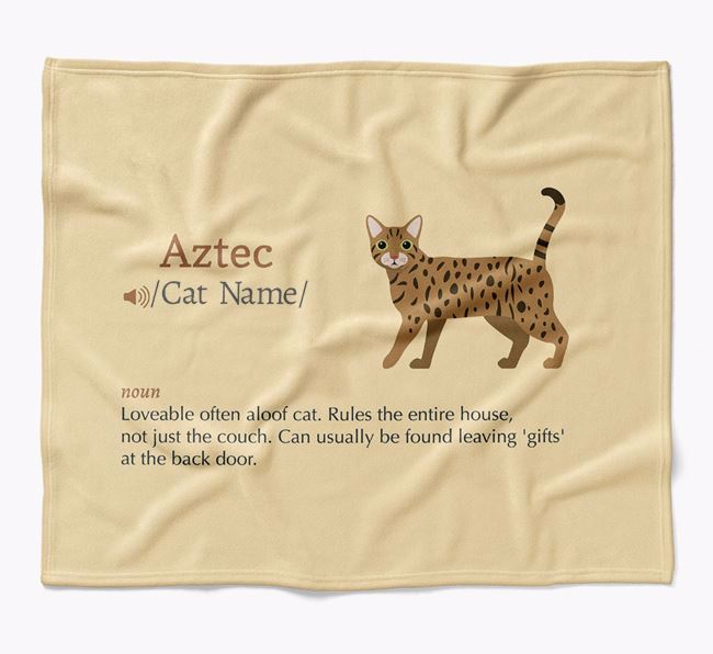 'Cat Definition' - Personalised Luxury Blanket